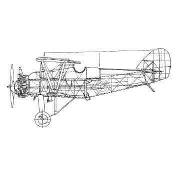 Armstrong Whitworth Siskin IIIa Line Drawing 2014