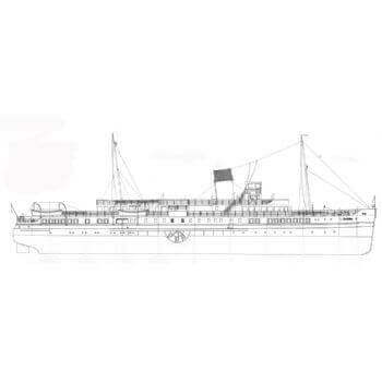 Caledonia Paddle Ship C57 Plan