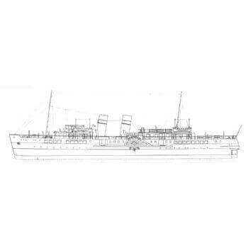 Waverley Paddle Ship C55 Plan