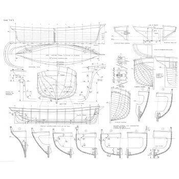Simple Planked Hull SY28 Plan