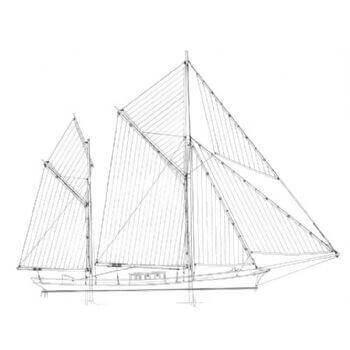Ketch Rig SY30 Static Sail Plan