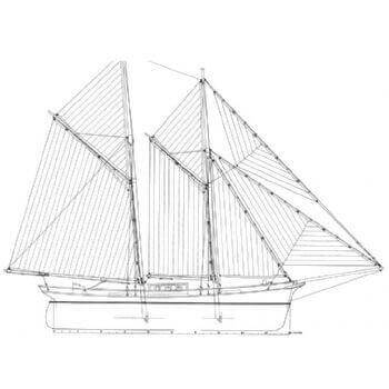 Fore & Aft Schooner SY31 Static Sail Plan