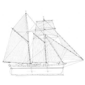Topsail Schooner SY32 Static Sail Plan