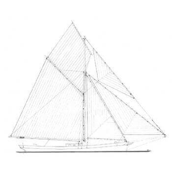 Cutter Rig SY29 Static Sail Plan