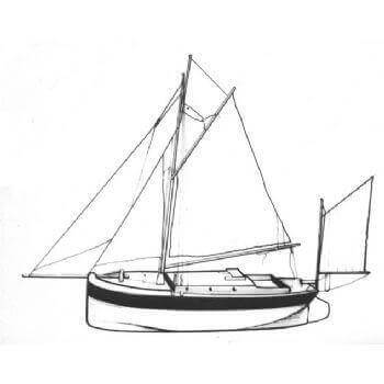 Barge Yacht MM902 Static Sail Plan