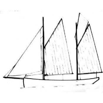 Pearling Lugger MM928 Static Sail Plan
