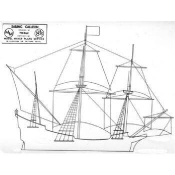 Sailing Galleon MM641 Static Sail Plan