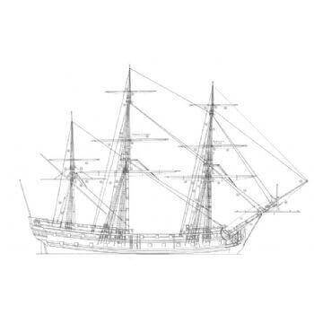 50 Gun Ship SY17 Static Sail Plan
