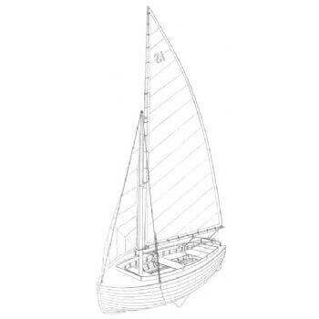 Dinghy MM153 Static Sail Plan