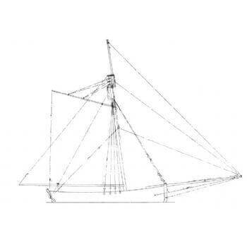 Sloop  1776 MM1477 Static Sail Plan