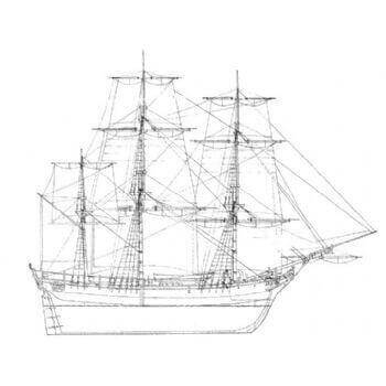 HMS Bounty M1033 Static Sail Plan