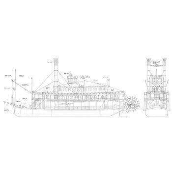 St Louis Belle Paddle Ship Plan