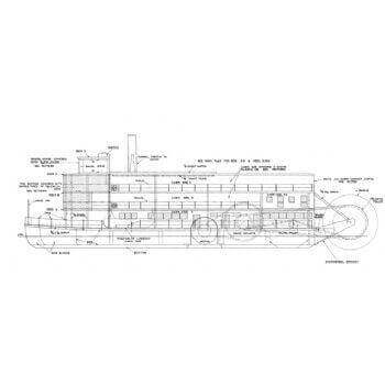 Cleopatra Paddle Ship MM319 Plan