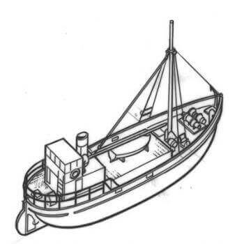 Lochinvar Clyde Puffer Paddle Ship MM1410 Plan