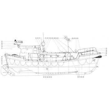 Rother Class Lifeboat MM1286 Plan