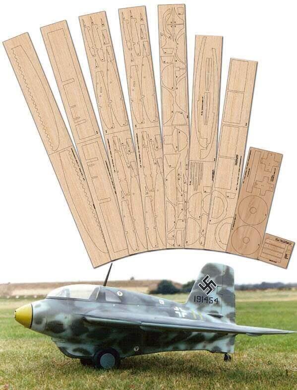"""Messerschmitt Me163 Komet (49.75"""") - SET"""