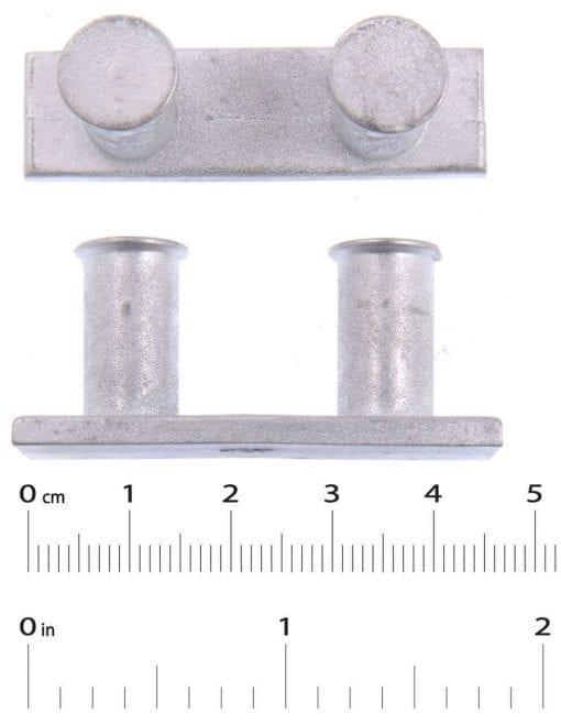 2 x Bollards  L 45mm  H 19mm  W 13mm