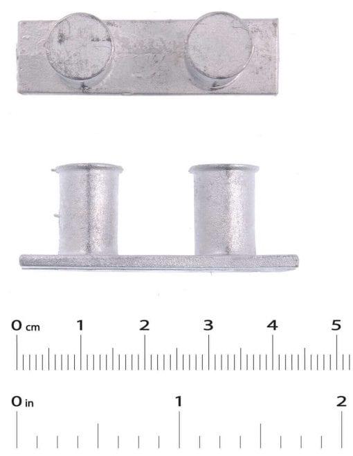 2 x Bollards  l 41mm  H 15mm  W 12mm