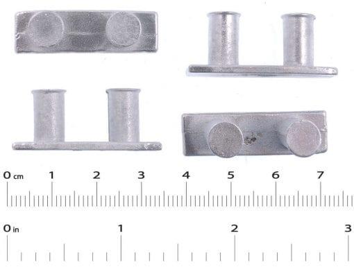 4 x Bollard  L 32mm  H 13mm  W 9mm