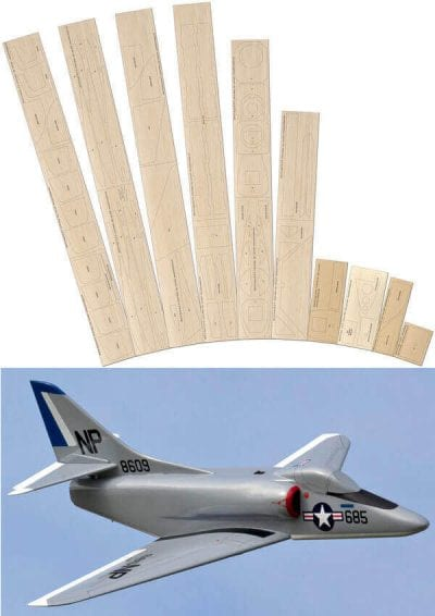 A-4 Skyhawk - Laser Cut Wood Pack