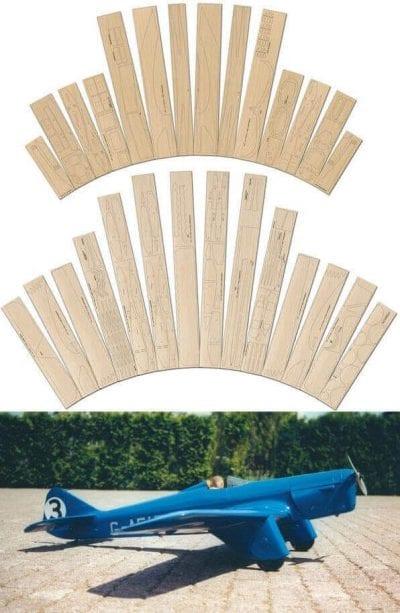 """Miles M.5 Sparrowhawk (63"""") - Laser Cut Wood Pack"""
