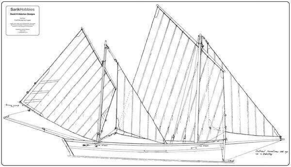 Lady Ma (Small Katie Mevagissey Lugger) - By David Alderton