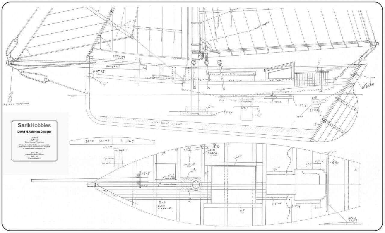 Katie (Gaff Rig Pilot Cutter)  - By David Alderton (PLAN)