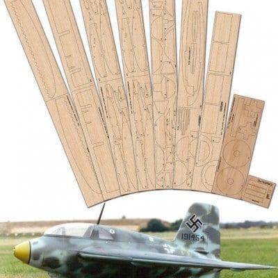 """Messerschmitt Me163 Komet (49.75"""") - Laser Cut Wood Pack"""
