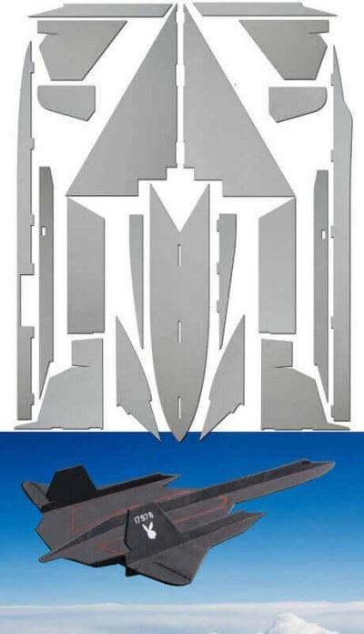 SR-71 Blackbird - Laser Cut Depron Pack