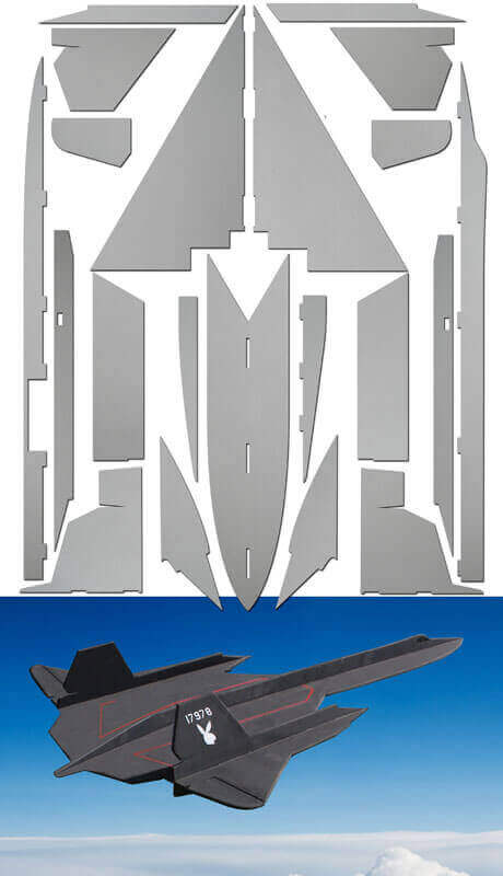 SR-71 Blackbird - Laser Cut Depron Pack