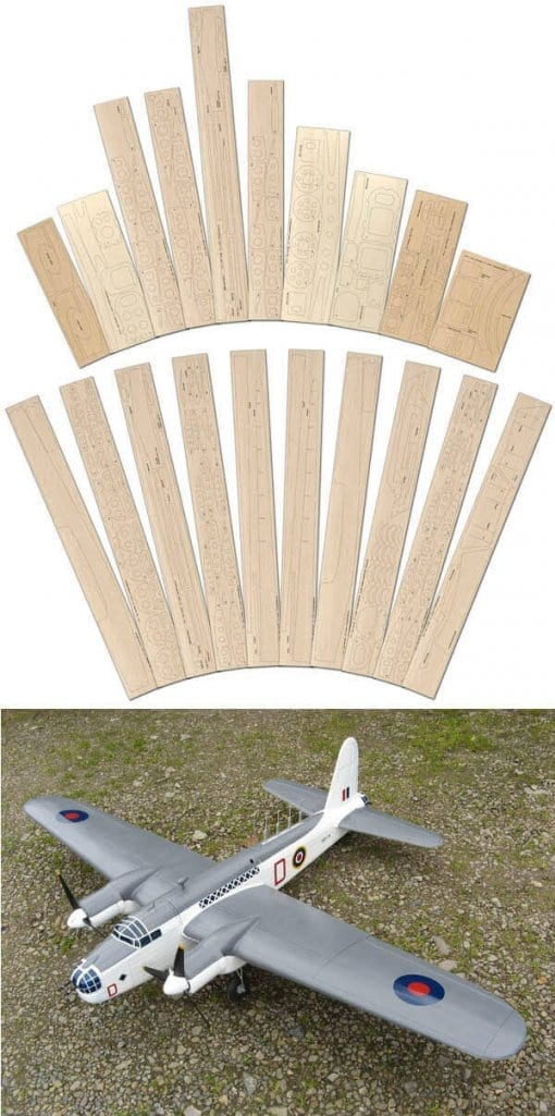 Vickers Wellington GR Mk.XIII - Laser Cut Wood Pack