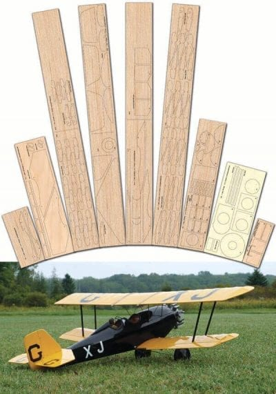 "Pitcairn PA-7S Sport Mailwing (40"") - Laser Cut Wood Pack"