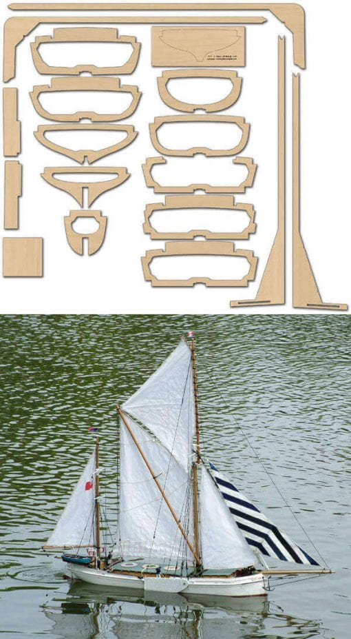 Thames Barge Veronica - Laser/CNC Cut Wood Pack