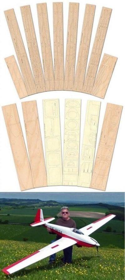Schleicher ASK-11 Laser Cut Wood Pack