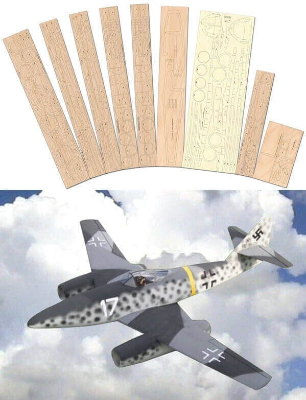Messerschmitt Me 262 - Laser Cut Wood Pack