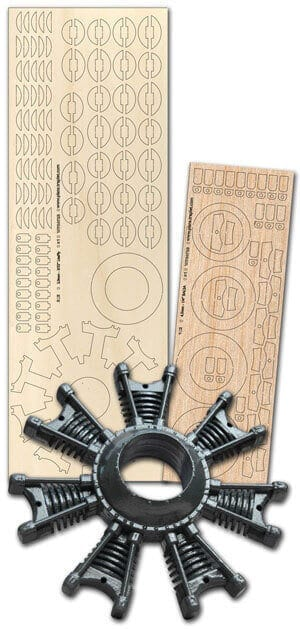 9 Cylinder Dummy Radial - Laser Cut Wood Pack