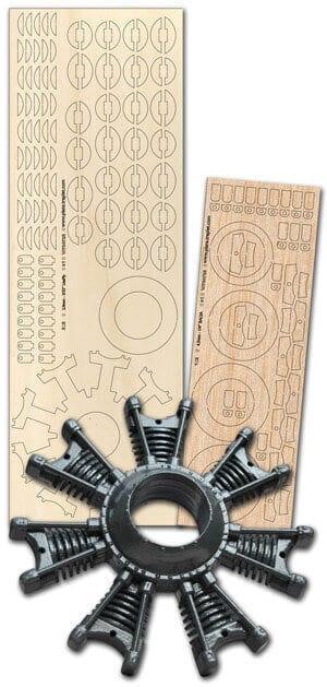 9 Cylinder Dummy Radial - Laser Cut Wood Pack