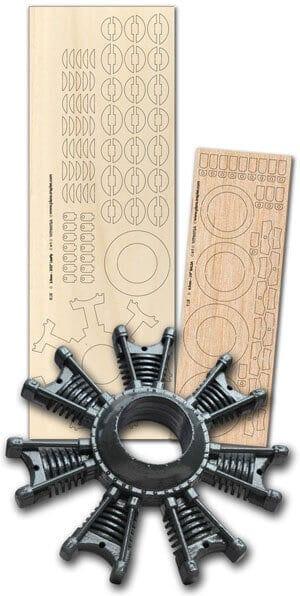 7 Cylinder Dummy Radial - Laser Cut Wood Pack
