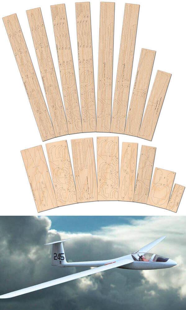 Schempp-Hirth Standard Cirrus - Laser Cut Wood Pack