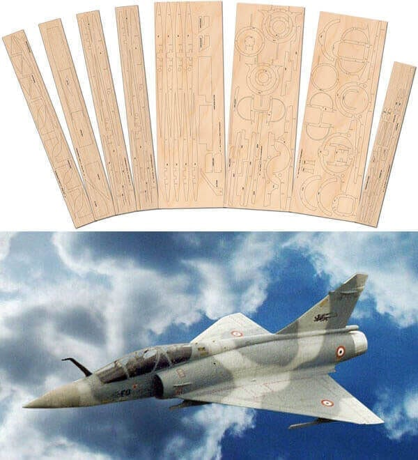 Mirage 2000C - Laser Cut Wood Pack