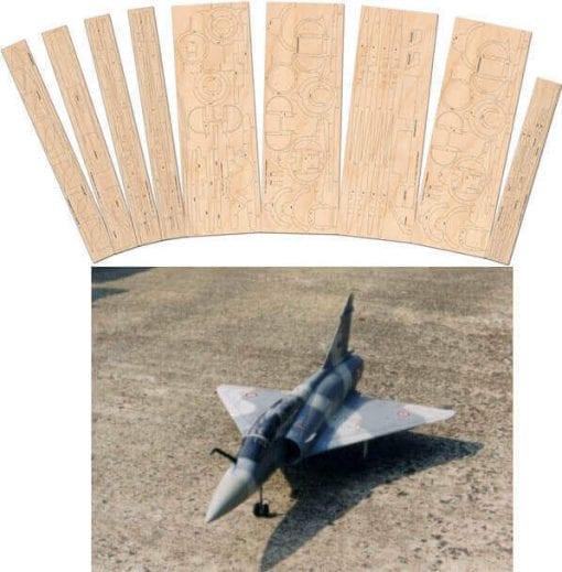 Mirage 2000B - Laser Cut Wood Pack