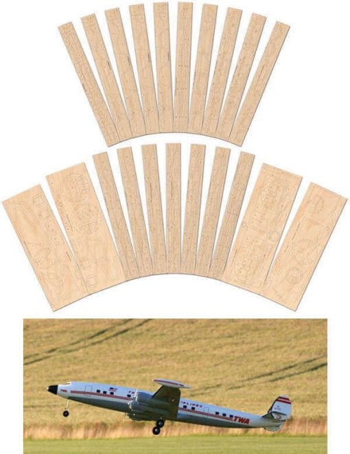 Lockheed Super Constellation - Laser Cut Wood Pack