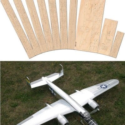 B25 Mitchell - Laser Cut Wood Pack