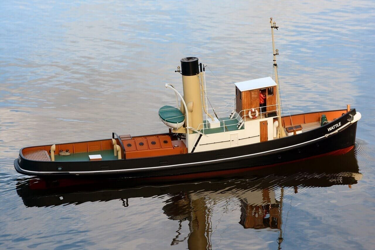 MM2086 1933 Steam Tug Wattle - Sarik Hobbies - for the Model Builder
