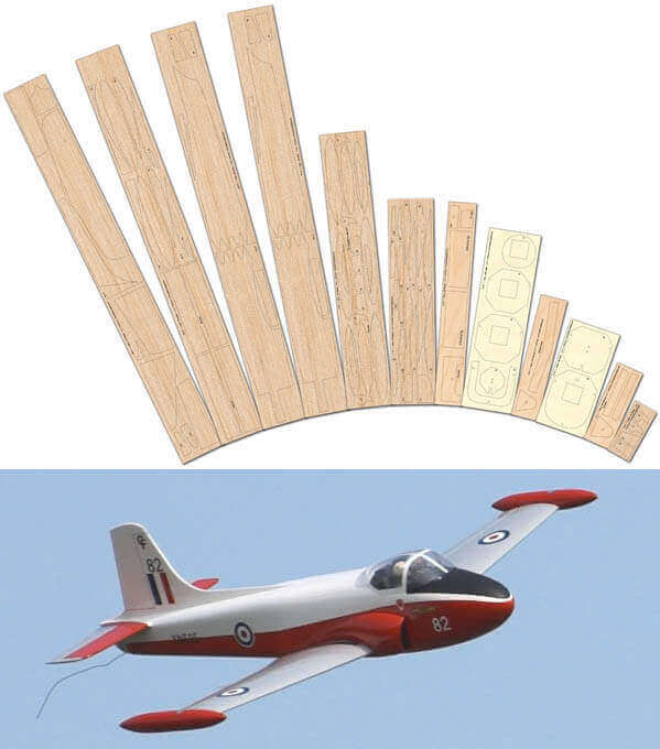 Jet Provost T.3/T.4 - Laser Cut Wood Pack