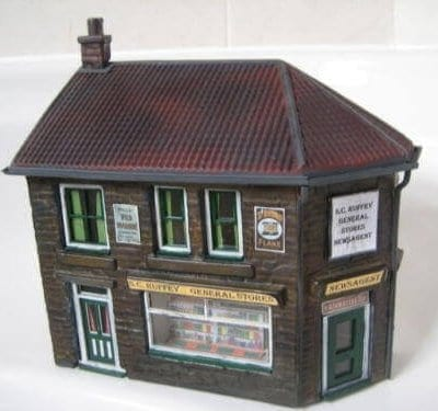 O Gauge Low Relief Corner Shop Kit