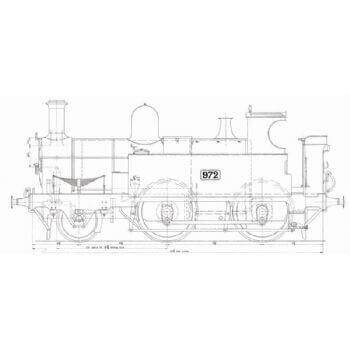 GWR 2-4-0 Tank Locomotive: Metro (Plan)