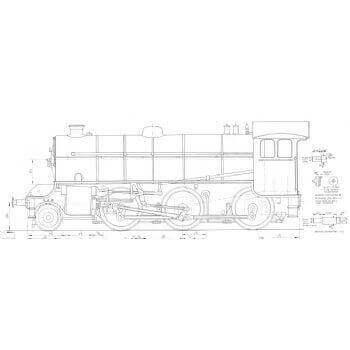 LNER K41 Class 2-6-0 Locomotive: Marquess (Plan)