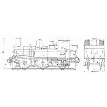 GWE 14XX Class 0-4-2 Tank Locomotive: Dart (Plan
