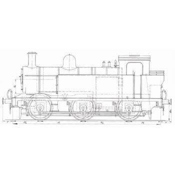 LMS Fowler Class 3F 0-6-0T Locomotive: Jinty (Plan)